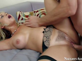 Sarah Vandella is a hot bodied blond slut that seduces married man with ease and takes his hard dick in her eager vagina. Big boobed blonde with nice