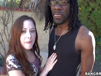 Sindee Jennings is a hot pale skinned chick that loves having with big black dick. She strips down to her lingerie and gives head to her dark skinned