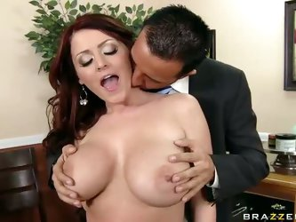Keiran Lee picks out the gift for his wife at a local jewellery store but gets very interested in big boobs of helping Sophie Dee. She bares her perfe