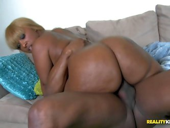 Ms Cherry Blossoms is a black BBW lady that loves hard black cock. Hot lady with big tattooed breasts and juicy monster ass gets impaled on nice size