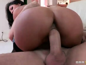 Sultry dark haired latina wife Kiara Mia with big tits and perfect ass is sex hungry. Her husband is in jail and the only man that can help her is her