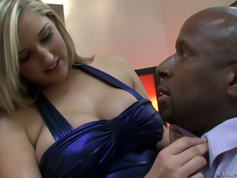 Dayna Vendetta is a beautiful blonde with big breasts that loves it big and black. She seduces Prince Yahshua with ease just by stripping out of her d