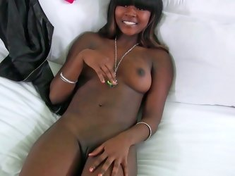 Kaci Starks is playing with a dildo and having interracial sex