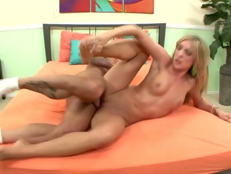 Naughty blond head with natural tits Amy Brooke wanna be fucked in spoon pose