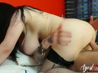 Naughty chubby British slut with big tits Sabrina is a sex starved cougar