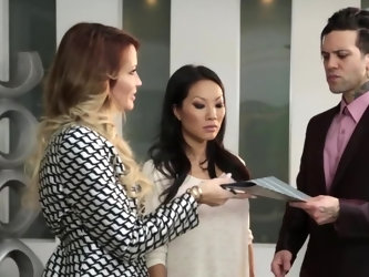 Asa Akira is a professional porn slut known for her raunchy personality. She's a total meneater and that's why we love her. Asa invites her