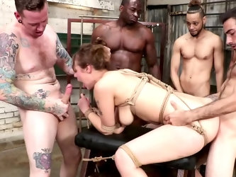 Sailor Luna looks like a virgin yet this girl is into very rough sex, this scene will make your dick so damn hard. She gets tied up and used by many w