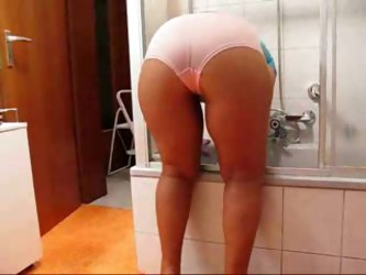 Watch Girlfriends Mom Cleaning Bathroom
