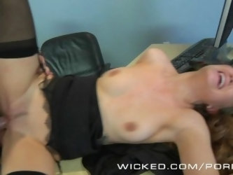 Wicked - Hot secretary Samantha Hayes fucks her boss