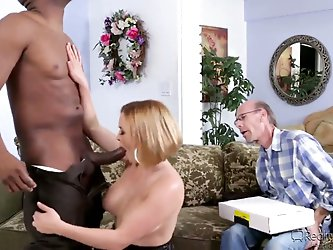 Krissy Lynn has a birthday today. She is married and very her husband, but his dick can not satisfy her hungry pussy. He called his best friend's