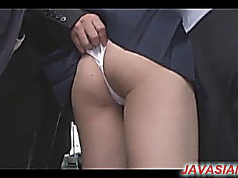 Japanese schoolgirl played in bus