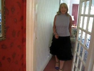 Friend's wife Paula dancing in her living room!