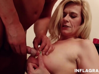Marina Montana is a mature, blonde slut with a heavily pierced pussy, who likes to fuck men