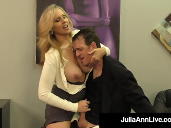 Put Your Head Against Busty Mommy Julia Ann As She Milks You