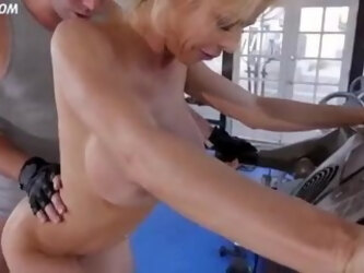 Alexis Fawx gets pussy banged on the running track