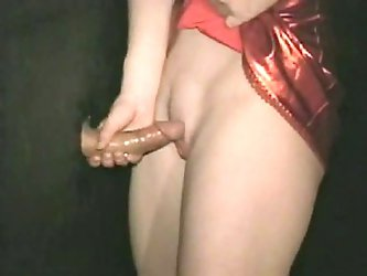 I made a hole on the wall and put my dick through it. My slutty brunette GF sucked it and rode it in standing doggy style position.