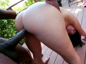 All that the bodacious slutty brunette Ava Dalush wants is a massive black cock inside her and today is her lucky day. Watch this muscled black hunk g