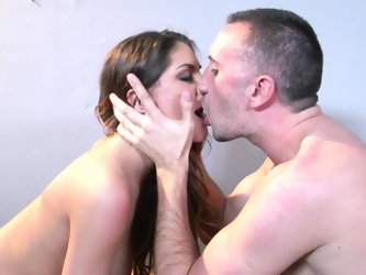 Two people show their love towards one another in this video in a really sexy way. The brunette uses all her skills to give a blowjob and then she pos
