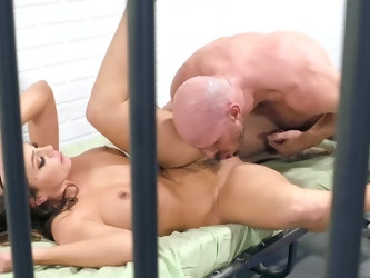 Magnificent woman Abigail Mac and muscled stallion Johnny Sins get in jail. They are not going to waste the time that's why they fuck in a passio