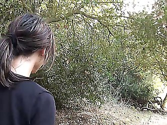 Amber Jane in the woods