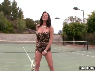 These rich milfs are just insatiable when it comes to hard fucking, and Veronica Avluv is no exception. See the horny brunette masturbate in the middl