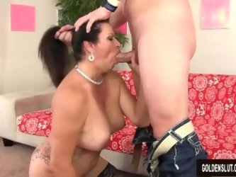 Mature woman Leylani Wood takes cock