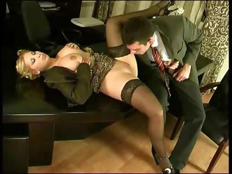 Secretary anal fucked in the office