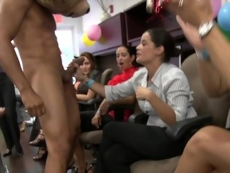Office birthday party with a stripper and crazy cocksucking fun