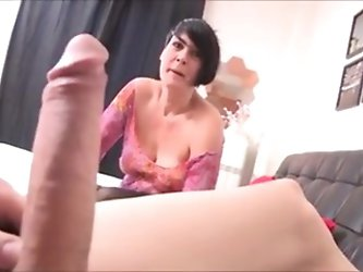 Short hair milf with young boy