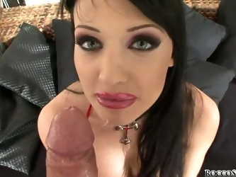 Aletta Ocean is a dark haired, mysterious beauty who looks like a vampiress ready to suck your blood, but this got babe just wants to suck Rocco Siffr