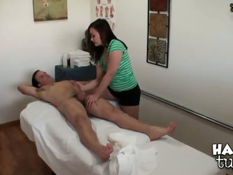 Jeremy Steele is gonna remember visiting this Asian massage parlor for a long time! Hot Kita Zen helps him loosen up and gives him an incredible tugjo