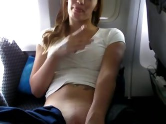 Fingering at airplane