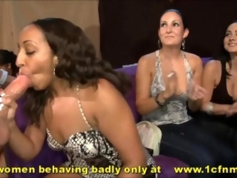 Hyper Dick Mad Milfs At Bachelorette Party While Hubbys Stay Indoors