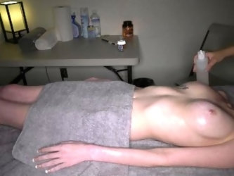 Hidden camera at happy ended lesbian massage / 2017-12-22