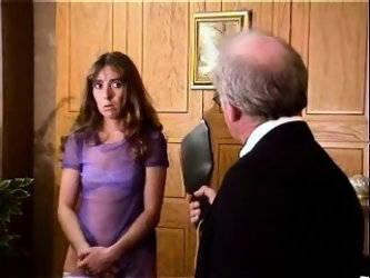Young girlfriend spanking hard