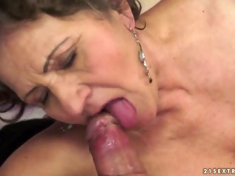 Kata is the most insatiable granny you can imagine. You can check out this hairy granny in action here as she swallows and gets drilled by that young