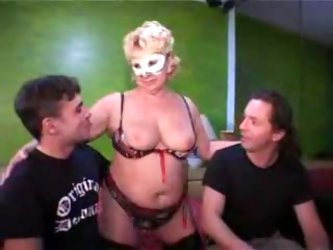Amateur with hot wives in masks