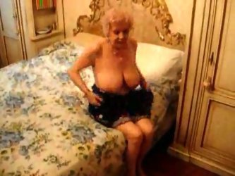 I love really old ladies, juts like my friend's granny. She has pair of huge saggy tits and loves stroking my dick with her flabby hands.