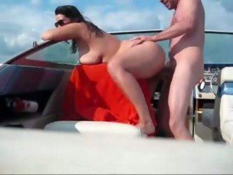 She dipped in the water first and then we had wild doggy style sex on cam. Busty amateur brunette milf skank wore her sunglasses when I was about to c