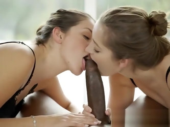 BLACKED Girlfriends Dani Daniels and Allie Haze nterracial Threesome