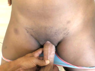 African pussy lips fucked and creampied