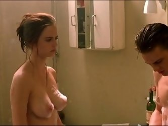 Eva Green Nude Wet Boobs And Hairy Bush In The Dreamers