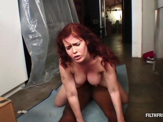 Redhead with huge knockers loves his BBC deep inside of her