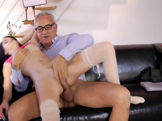 Petite doll nailed by step dad