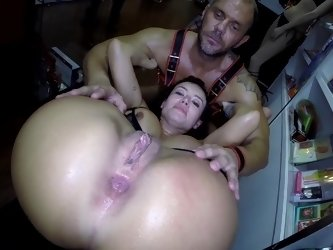 Milf plays with her vibrator here and she also gets a dick in her butt