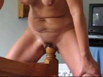 I filmed myself riding a wooden pole of the bed. It is much bigger than the average dildo and you must have a very elastic pussy for that!