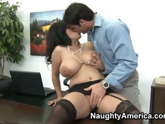 Shagging busty office babe Jaylene Rio hard