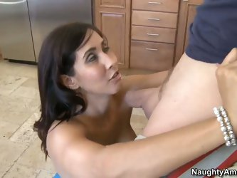 Big tit Latina Isis Love handling his shaft