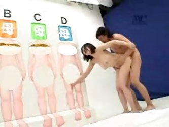 Japanese porn game show with sexy fun