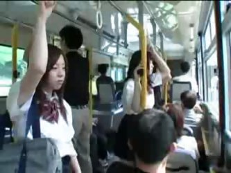 Japanese Schoolgirl and Maniac In Bus